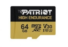 Patriot Karta microSDHC 64GB V30 High Endurance