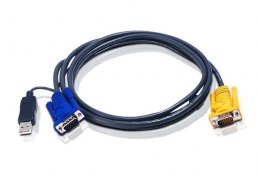 ATEN Kabel KVM USB z SPHD 3w1 2L-5202UP