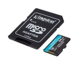 Kingston Karta microSD 64GB Canvas Go Plus 170/70MB/s Adapter