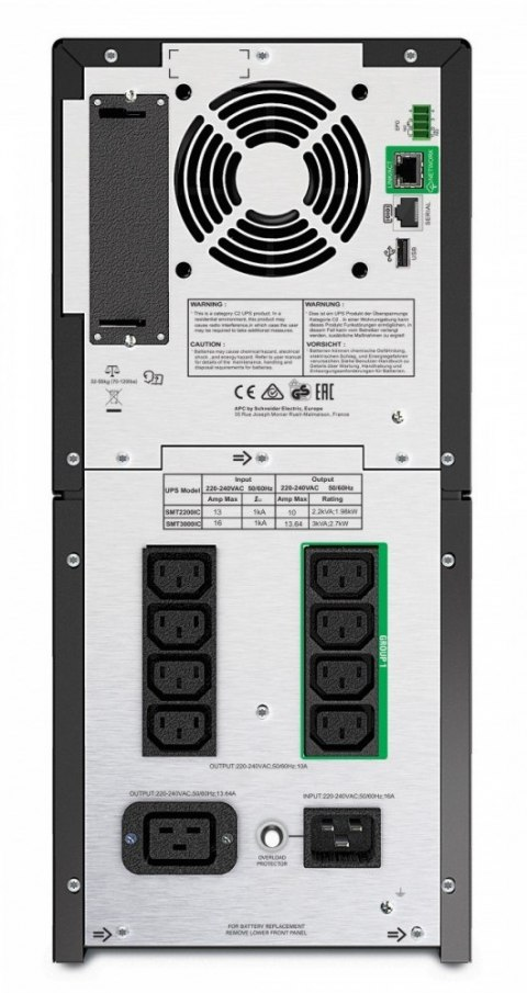 APC SmartUPS SMT2200IC 2.2kVA/1.98W Tower SmartConnect