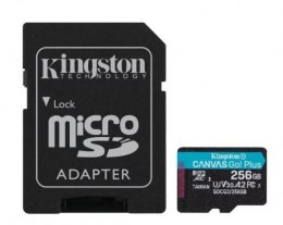 Kingston Karta microSD 256GB Canvas Go Plus 170/90MB/s Adapter